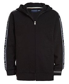 Calvin Klein Jeans Big Boys Logo Tape Fleece Hoodie