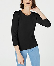 Crewneck 3/4-Sleeve Sweater, Created for Macy's