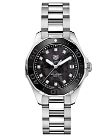 Women's Swiss Aquaracer Diamond (1/10 ct. t.w.) Stainless Steel Bracelet Watch 35mm