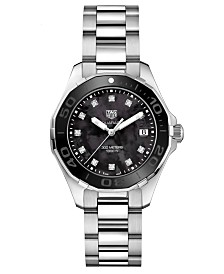 TAG Heuer Women's Swiss Aquaracer Diamond (1/10 ct. t.w.) Stainless Steel Bracelet Watch 35mm
