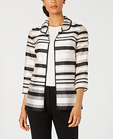 Petite Shadow-Stripe Jacket