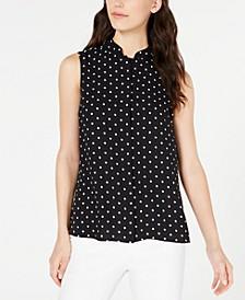 Dot-Print Sleeveless Shirt