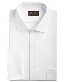 Men's Classic/Regular Fit Non-Iron Stretch Tonal Diamond French Cuff Dress Shirt, Created for Macy's
