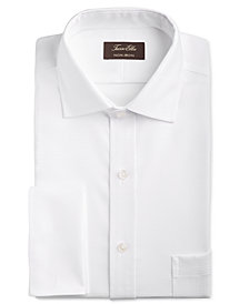 Tasso Elba Men's Classic/Regular Fit Non-Iron Stretch Tonal Diamond French Cuff Dress Shirt, Created for Macy's