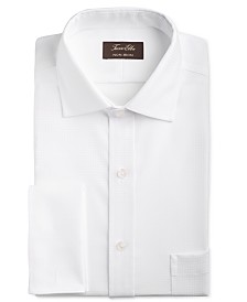 Tasso Elba Men's Slim-Fit Non-Iron Stretch Tonal Double Diamond French Cuff Supima® Cotton Dress Shirt, Created for Macy's
