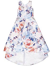 Speechless Big Girls Floral-Print Mikado Pocket Dress