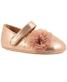 Baby Deer Baby Girl Shimmer One-Strap with Shimmer Chiffon Flower