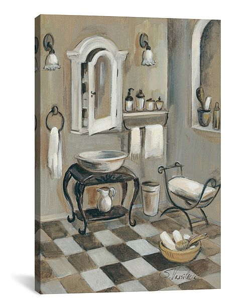 "iCanvas French Bath Iv by Silvia Vassileva Gallery-Wrapped Canvas Print - 26"" x 18"" x 0.75"""