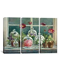 "Purple Poppies Windowsill Crop by Danhui Nai Gallery-Wrapped Canvas Print - 40"" x 60"" x 1.5"""