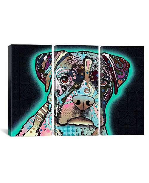 """iCanvas Love Thy Boxer by Dean Russo Gallery-Wrapped Canvas Print - 40"""" x 60"""" x 1.5"""""""