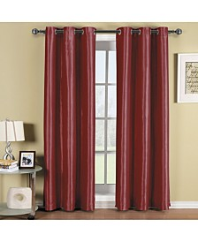 """Elegant Comfort Triple Layer Thermal Insulated Blackout Grommet Window Panel Set - Set of 2 - 54"""" x 84"""" Each"""