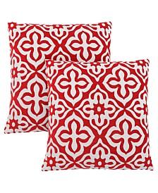 "Monarch Specialties 18"" x 18"" Motif Design Pillow, Set Of 2"