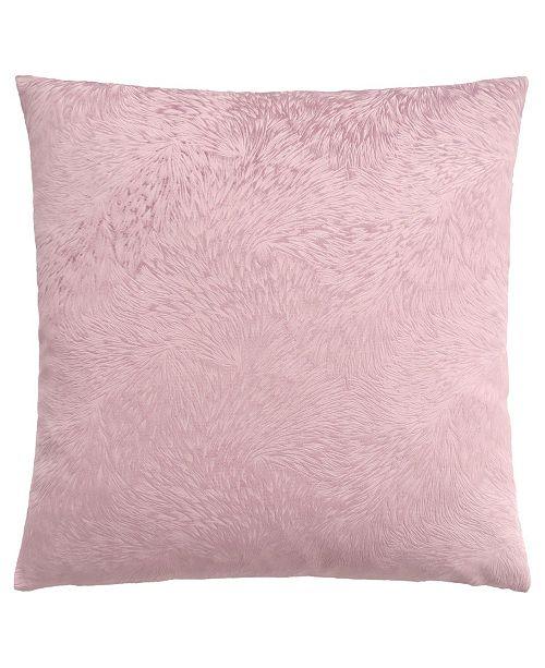 "Monarch Specialties 18"" x 18"" Feathered Velvet Pillow"