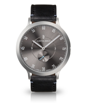 L1 Gray Leather Watch 42mm