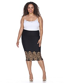 Plus Eden Pencil Skirt