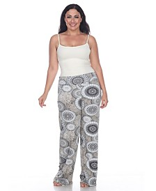White Mark Plus Size Circle Print Palazzo Pants