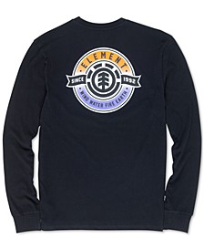 Men's Medallion Graphic Long-Sleeve T-Shirt