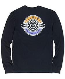 Men's Medallion Graphic Long-Sleeve T-Shirt