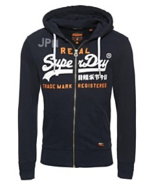 Superdry Vintage-like Logo Split Lite Zip Hoodie