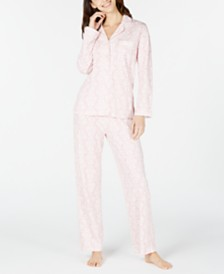 Charter Club Printed Cotton Pajamas Set, Created for Macy's