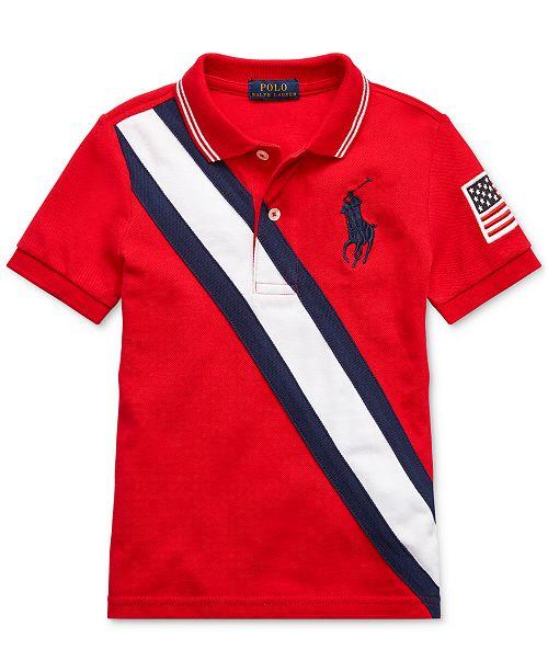 Polo Ralph Lauren Toddler Boys Basic Mesh Americana Polo Shirt