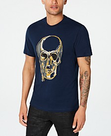 INC Men's Beaded Melting Skull T-Shirt, Created for Macy's