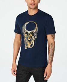 I.N.C. Men's Beaded Melting Skull T-Shirt, Created for Macy's