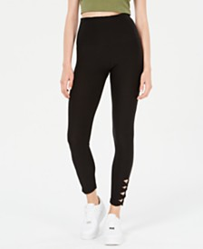 Planet Gold Juniors' High-Rise Cutout Leggings