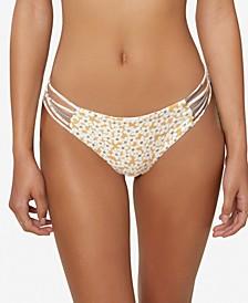 Juniors' Embry Printed Strappy Bikini Bottoms