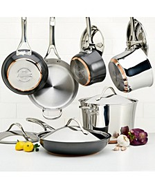 Nouvelle Copper Mixed Metals 11-Pc Cookware Set