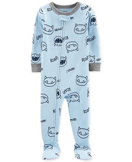 Carter's Baby Boys 1-Pc. Monster-Print Pajama