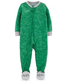 Baby Boys 1-Pc. Dinosaur-Print Pajama