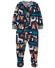 Baby Boys 1-Pc. Animal-Print Pajama