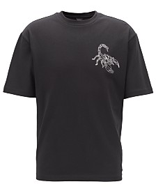 BOSS Men's Relaxed-Fit Scorpion-Print T-Shirt