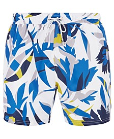 BOSS Men's Batfish Floral-Print Swim Shorts