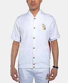 Sean John Men's Snap-Front Short-Sleeve Track Jacket