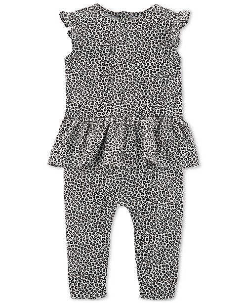 Carter's Baby Girls Leopard-Print Cotton Jumpsuit