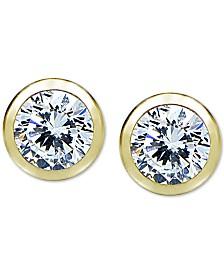 Giani Bernini Cubic Zirconia Bezel Stud Earrings, Created for Macy's
