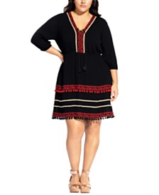 City Chic Trendy Plus Size In The Details Dress