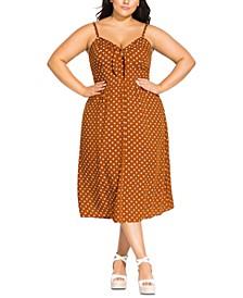 Trendy Plus Size Cheeky Knot Dress
