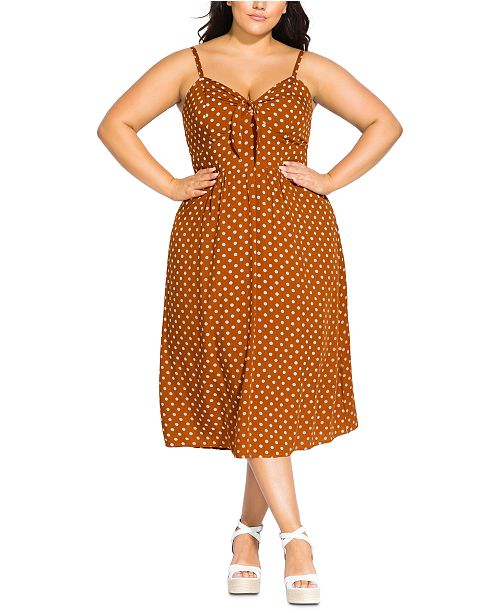 City Chic Trendy Plus Size Cheeky Knot Dress