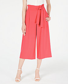 Anne Klein Crepe Cropped Trousers