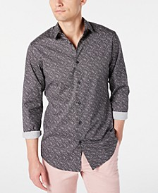 INC Men's Nolan Slim-Fit Print Shirt, Created for Macy's