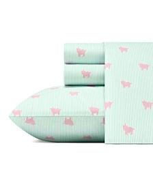 Poppy & Fritz Pigs Sheet Set, Twin XL