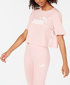 Puma Amplified Cotton Logo Cropped T-Shirt