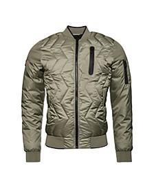 Zig Zag Quilt Bomber Jacket