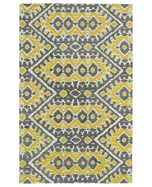 Kaleen Global Inspirations GLB01-28 Yellow 9' x 12' Area Rug