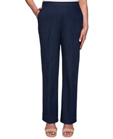Alfred Dunner Pull-On Flat-Front Trousers