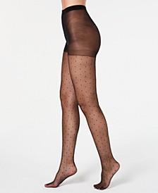 INC Women's Swiss-Dot Tights, Created for Macy's