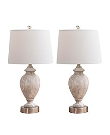 Audrey Texture Table Lamp, Set of 2